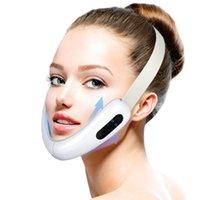 Podbródek V-Line Up Winter Pas Machine Czerwony Niebieski LED Foton Therapy Face Odchudzanie Masażer Wibracyjny Masażer Urządzenie do podnoszenia twarzy V Face Care