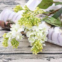 Dekorative Blumen Kränze 4 teile / los Künstliche Flieder Schöne Seide Flores für Haushochzeit DIY Dekoration Gefälschte Blume Anordnung Kranz