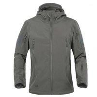 Giacca tattica in pile Uomo Army Polartec antivento Softshell giacca uomo multi tasche con cappuccio cappotto pioggia tuta sportiva1