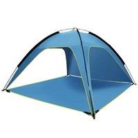 Tentes et refuges Beach Sunshade Tente Sun Sheltre Ventilé Camping Pêche Facile Configuration Petit Canopy pour le repos extérieur Jouer à la randonnée