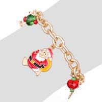 Ювелирные изделия ручной работы оптом Санта-Клаус браслет сплава капает масло рождественская елка ловкий браслет подарок
