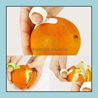 Vegetable Tools Kitchen, Dining Bar Home & Gardenlemon Citrus Peeler Parer Finger Type Open Peel Device Plastic Orange Stripper Peeling Kitc