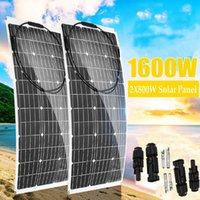 MAX 80W 160W Solar Panel 18V PET Flexible System Kit Complete Car Battery Charger For Home Outdoor RV