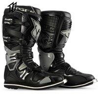 Motocross Enduro Professional 오토바이 모터 보트 신발 레이싱 부츠 39-46 오프로드 밴드