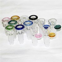 14&18mm male 2 in 1 Glass Bowl for Bong Smoking Bowls smoke accessory water pipe silicone dab rig