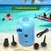 Pool & Accessories Electric USB Portable Mini Air Pump For Outdoor Inflatable Camping Mat Mattress Cushion Bed Boat Swimming Ring