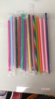 500 piece Supply solid Other Drinkware color PP straw food grade hard plastic buckle custom large discount