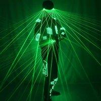Ghiaccio del laser verde I costumi guidati con guanti laser e occhiali per spettacolo di partito