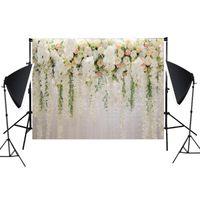Decorazione del partito Rose Flower Pography Backdrop Wedding Wall Baby Sfondi Puntelli per Studio Bride Decor
