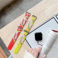 Wymiana kręgle Rainbow Color Strap Pasek dla Apple Iwatch Series 6 5 4 3 2 Silustel Bransoletka Silikonowa Wodoodporna Miękka opaska