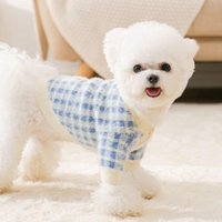 Dog Apparel Clothes Sweater Autumn And Winter Xiaoxiang Style Cardigan Puppy Cat Thick Warm Two-legged Pet
