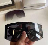 Shield Wrap Sunglasses 4393 Preto Cinza Extra Lente Intercambiável Sonnenbrille Gafa de Sol Moda Sol Glasses UV400 Proteção Eyewear com caso