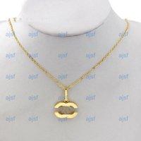 Top Fashion Designer Buchstaben Halskette Gold Überzogene Luxus Halsketten Kristall Diamant Anhänger Clawicle Kette Für Frauen Bankett Schmuck