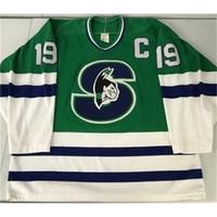34213421Rare Jersey Hóquei Homens Juventude Mulheres Vintage Personalizar AHL Springfield 1990-93 Picard Tamanho S-5XL Personalizado Qualquer nome ou número