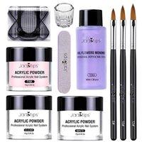 Nail Art Kits Acrylic Kit Powder Non-yellowing Liquid And Strong Adhesion Set With Brush Nails Extension For Home Salon