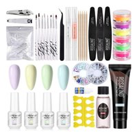 Nail Art Kits 094E Tools Decoration Kit DIY Supplies Clippers Drill Rhinestones Brushes Tweezers Modelling File
