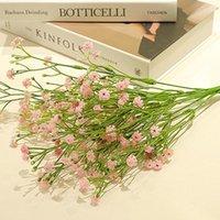 Decorative Flowers & Wreaths Artificial Silks Gypsophila Lifelike Fake Floral Babysbreath For Home Wedding Decor TA