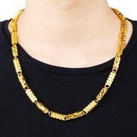 Навсегда не выцветает 24K Золотая ожерелье для мужчин Женщины Прекрасный Bijoux Femme Wheelles Naszyjnik Ювелирные Изделия 24k Золотые Ювелирные Изделия Ожерелья 210323