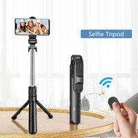 2021 Novo sem fio Bluetooth selfie mini tripé extensível haste única com obturador remoto para telefone inteligente Android