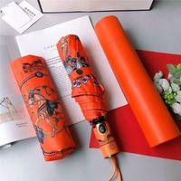 Moda Dobrável Linda Linda Designers Guarda-chuvas Completa Impressão Automática Sunny Rainy Sonl