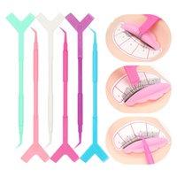 Makeup Brushes 10pcs Fake Eyelash Perming Stick Tool Glue Spoon Lashes Brush Mini Y Shape Comb Lash Lifting Curler Applicator Tools