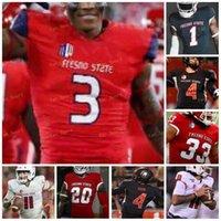 Custom 2021 Fresno State Football Jersey NCAA College 90 Kevin Atkins 20 Ronnie Rivers 1 Keric Wheatfall 21 Ryan Mathews 4 Derek Carr 3 KeeSean Johnson