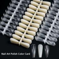 240 teile / pack Falsche Nagelspitzen Nägel Kunst Polnische Farbkarte Acryl-Praxis-Grafik-Palette Klar + Nautral-Übungs-Anzeigewerkzeuge