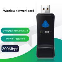 Cartão de Rede de Hubs TV sem fio LAN Receptor EDUP USB Adaptador WiFi 300Mbps 2.4GHz para PC Laptop