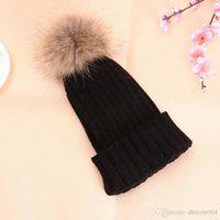 Winter Wool Knitted Beanies Hat for Women Faux Fuzzy Fur Pom Ball Pompom Skullies Ski Hat Slouchy Caps Bonnet Streetwear