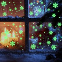 Wall Stickers 2022 Luminous Snowflake Christmas Window Sticker Glass Decorations For Home Glow Year Gift