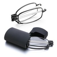 Sonnenbrille Unisex tragbare faltbare Lesebrille mit Fall Männer Frauen Rotation Presbyopia Brillen +1,0 +1,5 +2,0 +2.5 +4.0