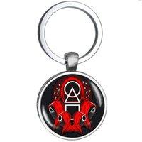 Designer keychain Brand key chain Korean movie squid game sticker same series
