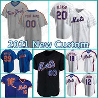 48 Jacob Deemom Mets Jersey Custom 12 Francisco 20 Pete Alonso Lindor бейсбол Darryl клубника Майк Piazza Conforto David Risario