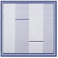 Versão coreana Siqi estilo chique simples pinstripe impressão decorações femininas lenços I5W0