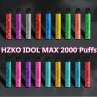 Hzko Idol Max 일회용 담배 포드 장치 키트 1100mAh 배터리 2000 퍼프 프리 쿼리 6.5ml 포드 vape 펜 대 퍼프 플러스 바 XXL