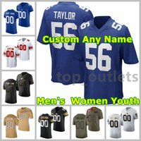 2021 Giants American Football Jerseys Saquon Barkley Jersey Daniel Jones Lawrence Taylor Kenny Golladay Devonta Freeman Custom genäht Größe S-XXXL