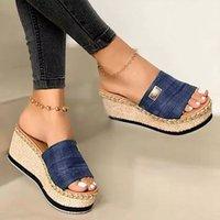 Puimentiua platformu takozlar terlik kadın sandalet 2020 yeni kadın ayakkabı moda topuklu ayakkabı rahat yaz slaytlar terlik kadınlar sdhsdgsdg
