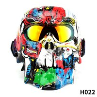 Skull Face Mask Goggles Motorcycle Bike Racing Skiing Sand Wind Shield Helmet Glasses Protective windproof glasses cross-country dust cycling helmet goggles A002