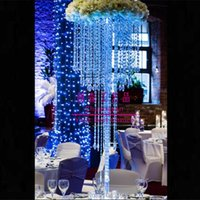Party Decoration Tall Acrylic Crystal Table Centerpiece Wedding Chandelier Flower Stand Centepiece,Wedding Holders