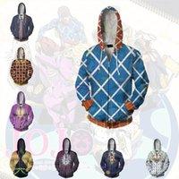 Felpe anime Felpa con cappuccio Jojos Bizarre Adventure Guido Misca Golden Wind Costume Cosplay Costume Zipper Abbigliamento uomo Top