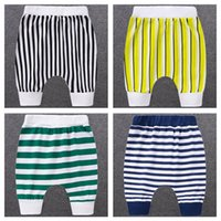 Children's Girls Harem Pants Boys Five-point Summer Baby Short-sleeved Thin Striped Tide Big PP Shorts