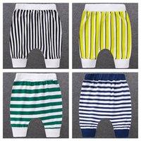 Children's Girls Harem Pants Boys Five-point Summer Baby Short-sleeved Thin Striped Tide Big PP Shorts