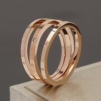 High Quality Rose Gold Plated 3 in 1 Brand Diamand Ring Set for Women Gift