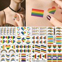 BF414 Pride Rainbow Temporary Tattoo Sticker Waterproof Body Art festival gift Health Beauty Products Gay-Pride Parade