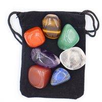 7pcs / Set Reiki Natural Stone Natural Tumbled Stone Irregular Lucidation Rock Quartz Yoga Energy Perle per Chakra Healing de Jllcns 400 Q2