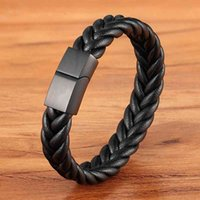 Classic Style New year Gift 6 Options Stainless Steel Leather Men's Bracelet Multi-color Magnet Buckle DIY Size Custom Sale