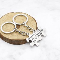 You complete my life Keychains Puzzle Couple Key Rings Lover Wedding Anniversary Jewelry Gifts Fashion Accessories lz938