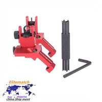 Red 45 gradi Offset Flip Iron Front and Rear Spary Sights