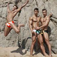 브랜드 남성 수영 팬티 수영복 수영복 물 방충제 게이 맨 수영복 남성 수영복 팬티 팬츠