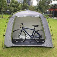 الخيام والمأوى مقاوم للماء دراجة تخزين سقيفة دراجة خيمة الفضة المغلفة البوليستر المأوى مساحة توفير أداة غطاء